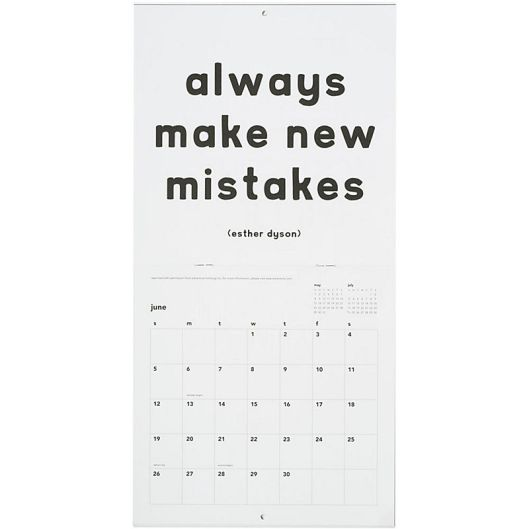 Paper Source - B/W Quotable Calendar, $12.95