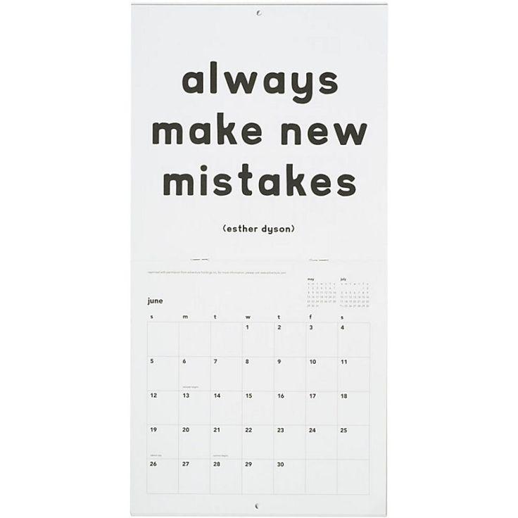 Paper Source - B/W Quotable Calendar, $12.95