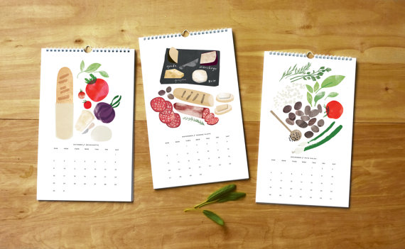 Red Cruiser - Hors d'oeuvres Calendar with Set of Recipes, $32