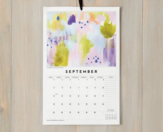 Fine Day Press - Abstract Wall Calendar, $36