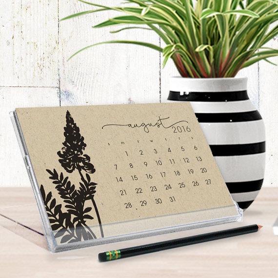 Naomi Lynn - Kraft Desktop Calendar, $15