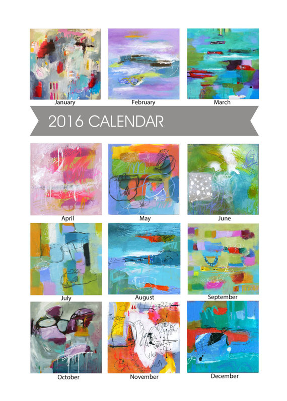 Abby Creek Studios - Abstracts Desktop Calendar, $18