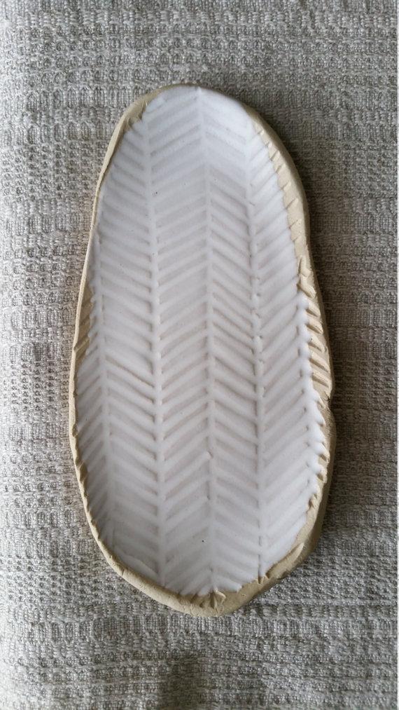 Matte White Oval Plate, $29