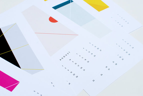 Dozi - Colors Modern Wall Calendar, $26