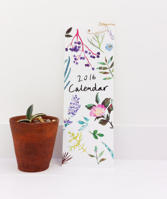 Constance & Clay - Botanical Wall Calendar, $15.50