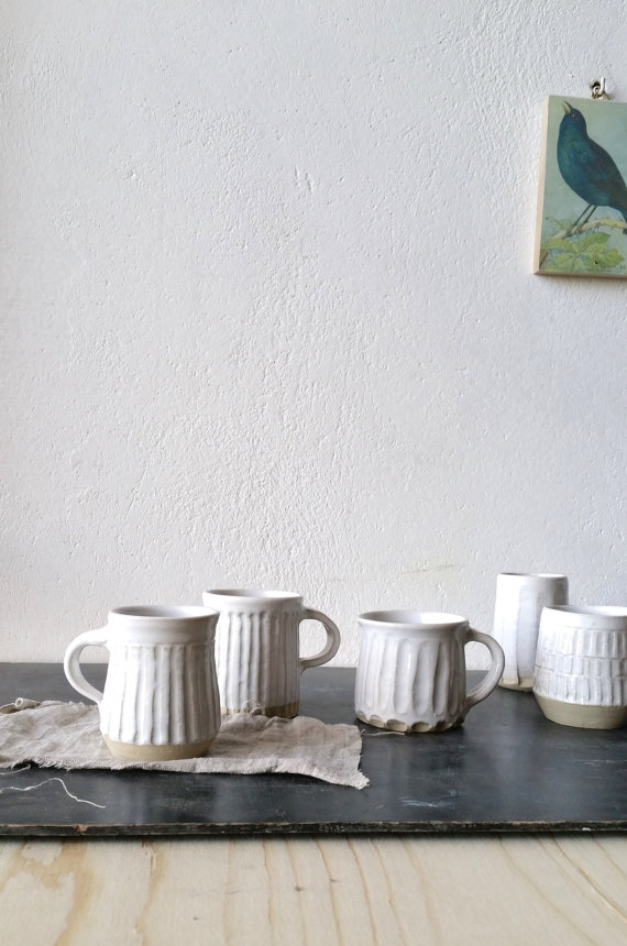 White Mugs, $22