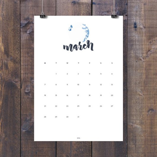 Nordic Graphic Studio - Printable Wall Calendar, $6