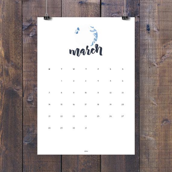 Nordic Graphic Studio - Printable Wall Calendar, $6