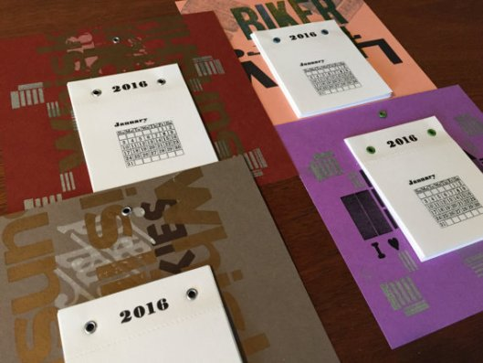 Big Press Little Press - Letterpress Calendar, $10