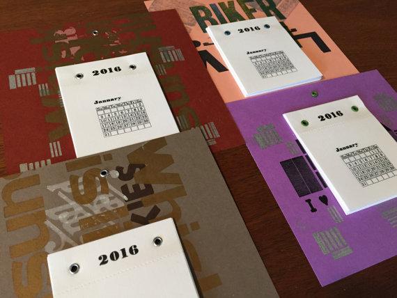 Big Press Little Press - Letterpress Calendar, $10