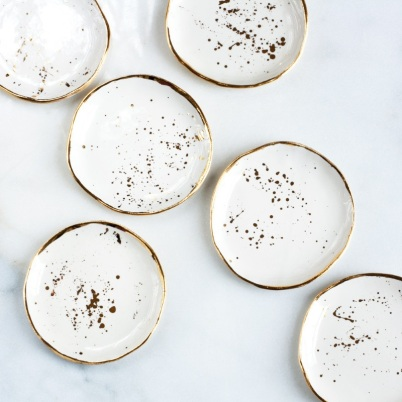 Suite One Studio - Splatter Ring dishes in Gold, $30